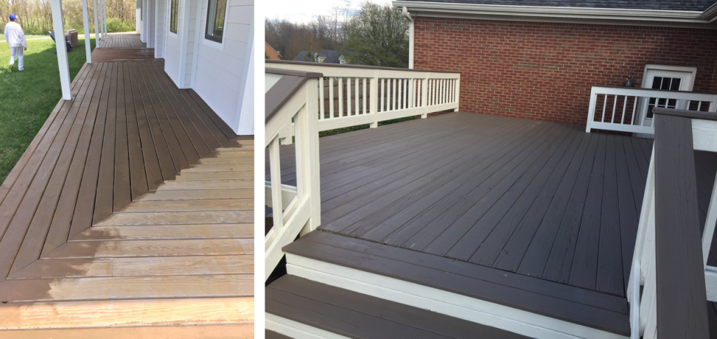 Deck Staining Or Deck Coating In Lexington In 2020 My Three Sons Painting Deck Staining Vs Deck Coating In 2019